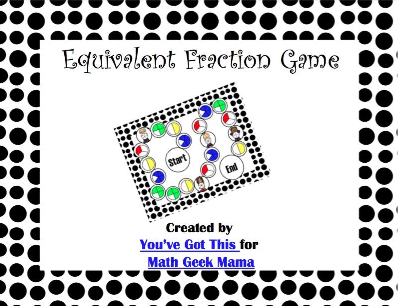 This is a photo of Equivalent Fractions Games Printable within 5th grade