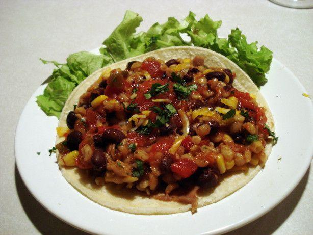 Barley, Black Bean and Corn Burritos