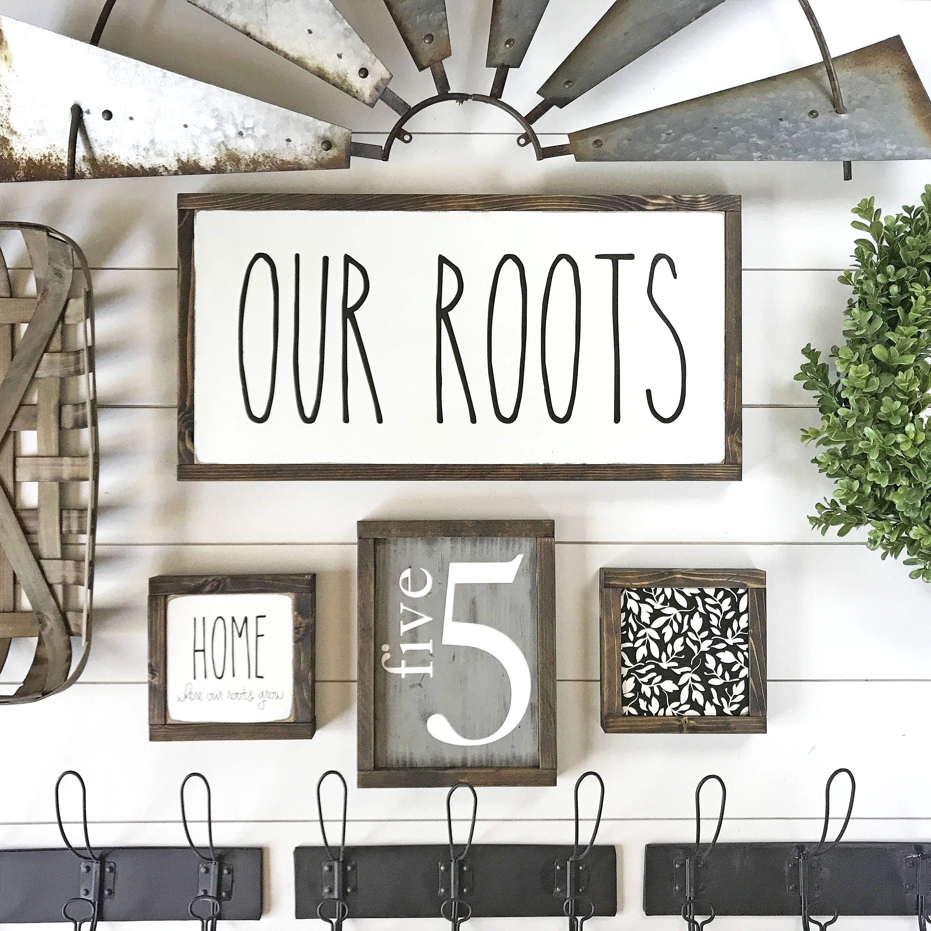 Home Where Our Roots Grow- Home Sweet Home Wood Sign