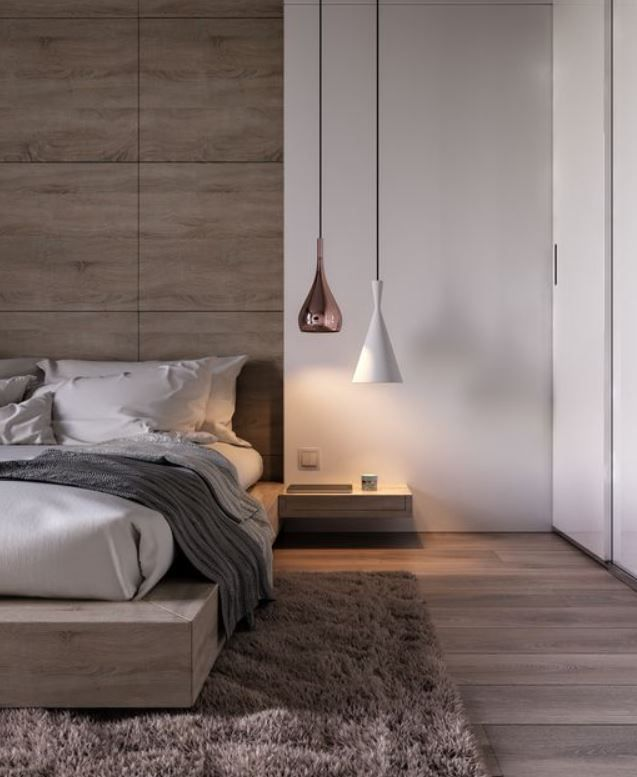 Bedhead Timber Panel Against Timber Floor Could Incorporate