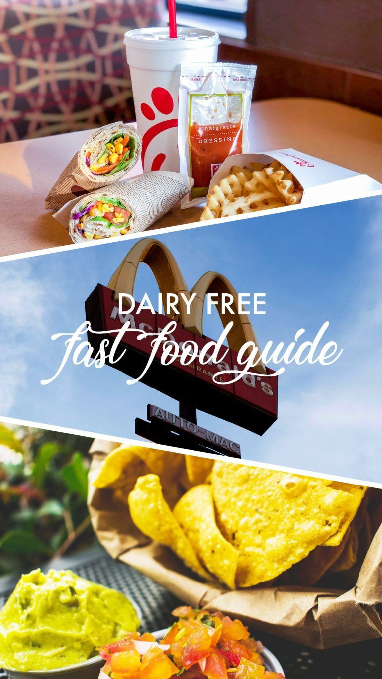Dairy Free Fast Food Guide Make It Dairy Free Dairy Free Fast
