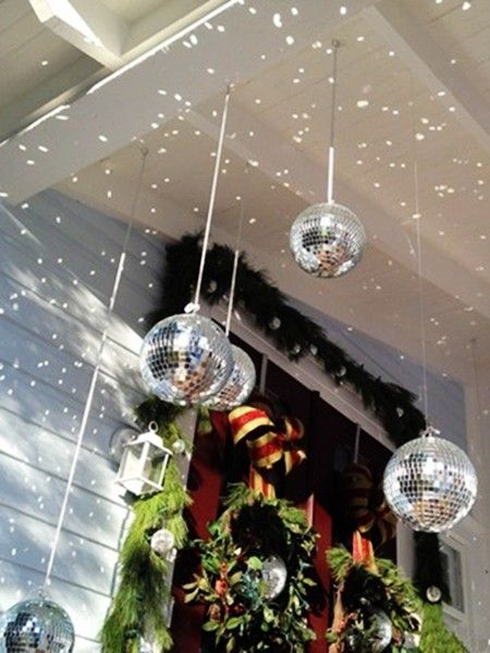2017 porch christmas decoration ideas - Christmas Ball Decoration Ideas