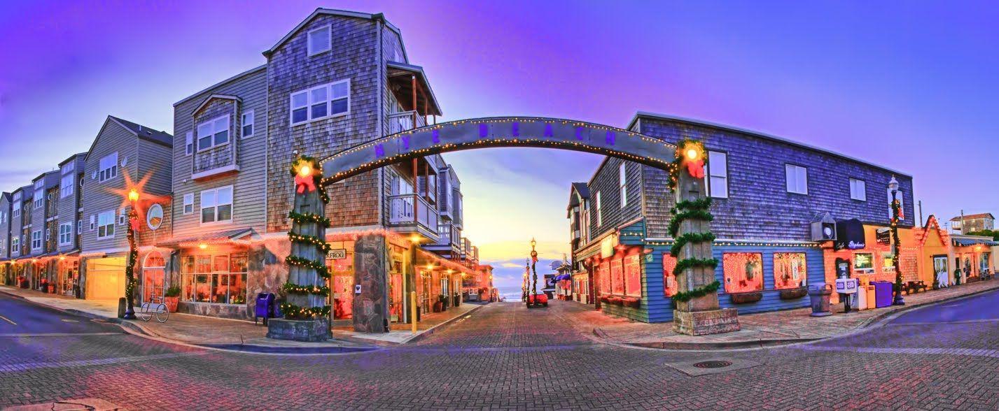 Christmas Sunset At Nye Beach Newport Oregon