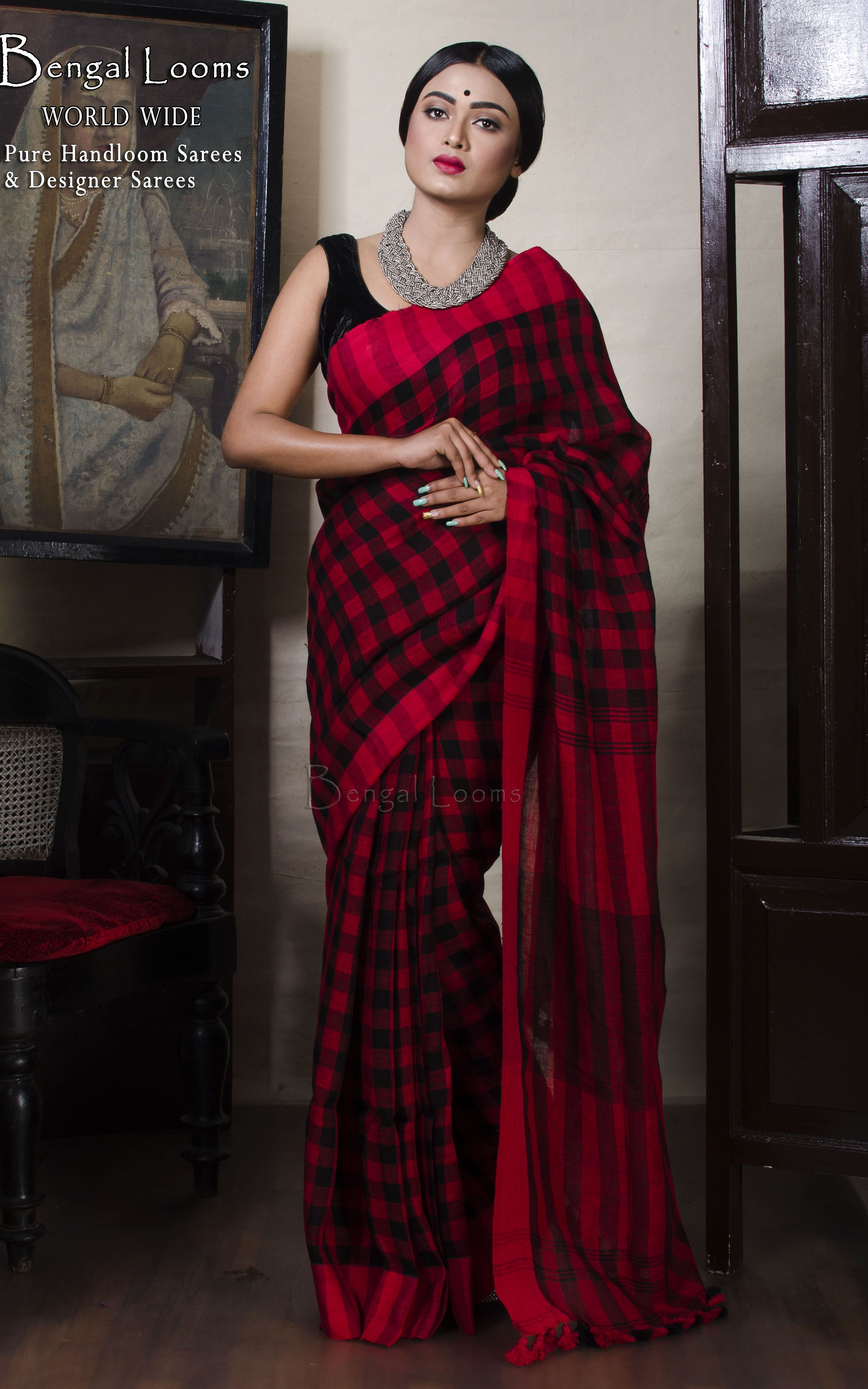 ecde2bdb0de5b0 Linen Saree | Linen Sarees in 2019 | Saree, Saree dress, Indian sarees