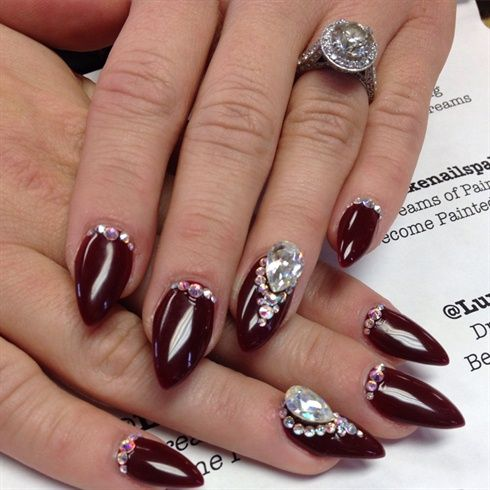 the art of setting stones  nail art stiletto nail art