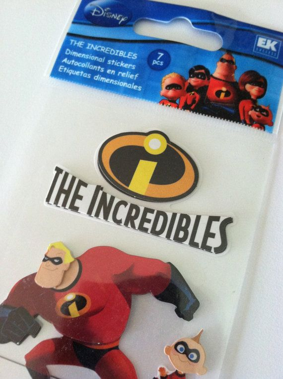 The Incredibles Disney Pixar Dimensional by RoyalDescent10 on Etsy, $4.20
