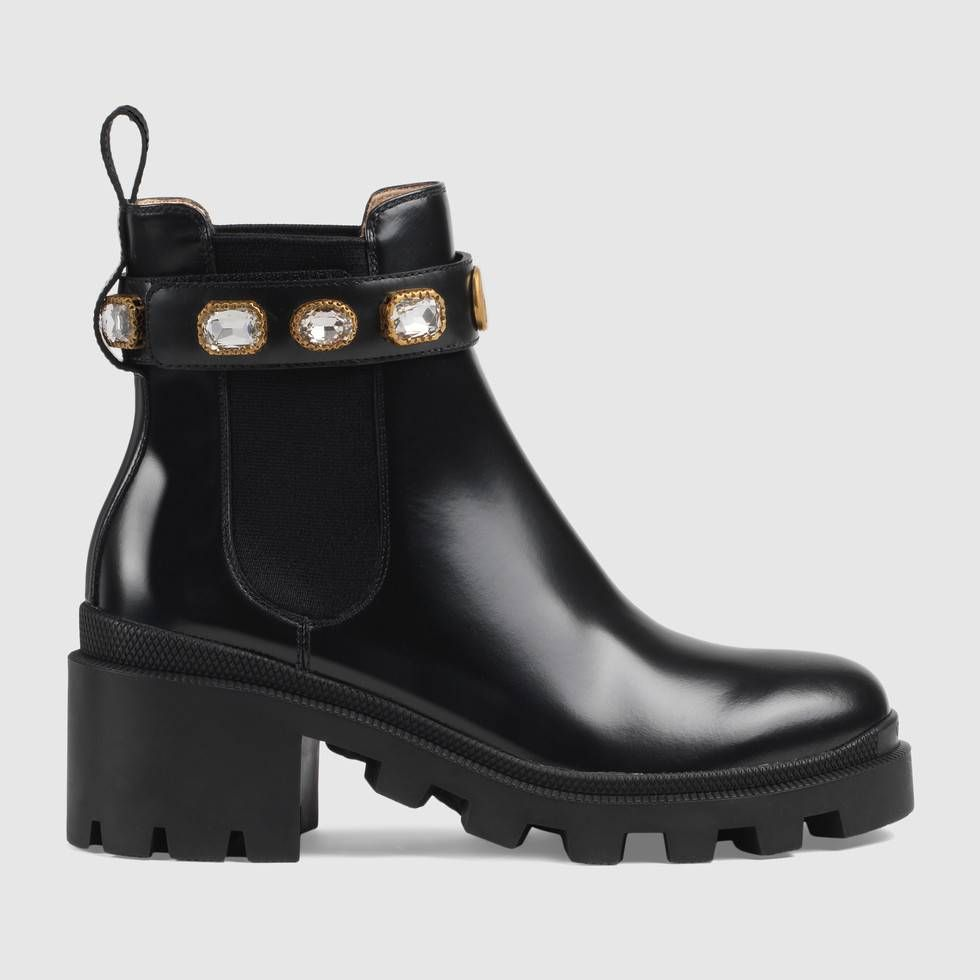 Gucci Leather Ankle Boot With Belt Leather Ankle Boots Boots Leather Shoes Woman