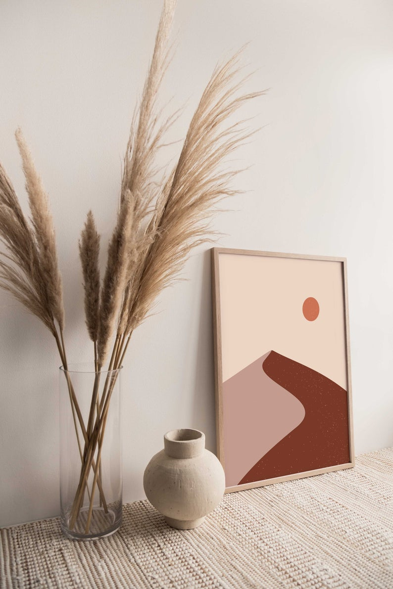 Sand dune art print abstract art digital art DIY art   Etsy