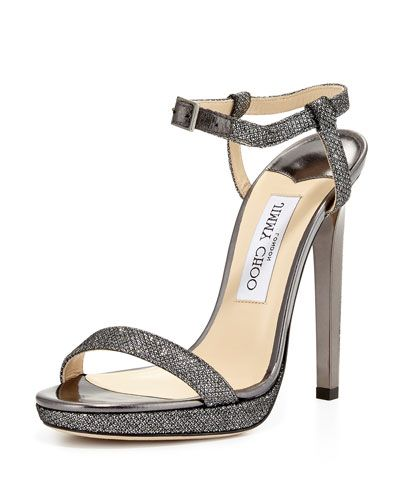 aaad868ed4ee X2X75 Jimmy Choo Claudette Glitter Platform 120mm Sandal