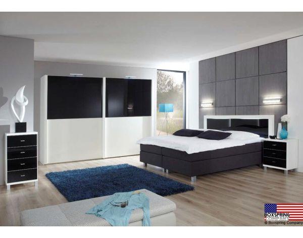 Complete Slaapkamer Boxspring : Zeer luxe complete slaapkamer van wiemann model helsinki zwart