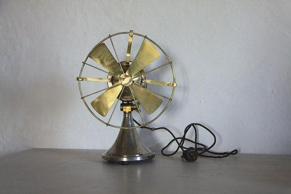 Antique Electric Fan Desk Fan 1930s   Made by Lemoine et Co.  Display Prop
