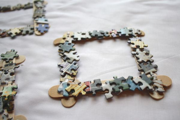 Puzzle Piece Frame and Watercolor Art {Mother\'s Day Gift}   Puzzle ...