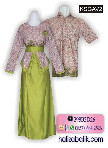 Gamis batik couple Bahan katun kombinasi velvet cantik Variasi