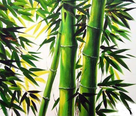 peinture a l huile bambou peintures
