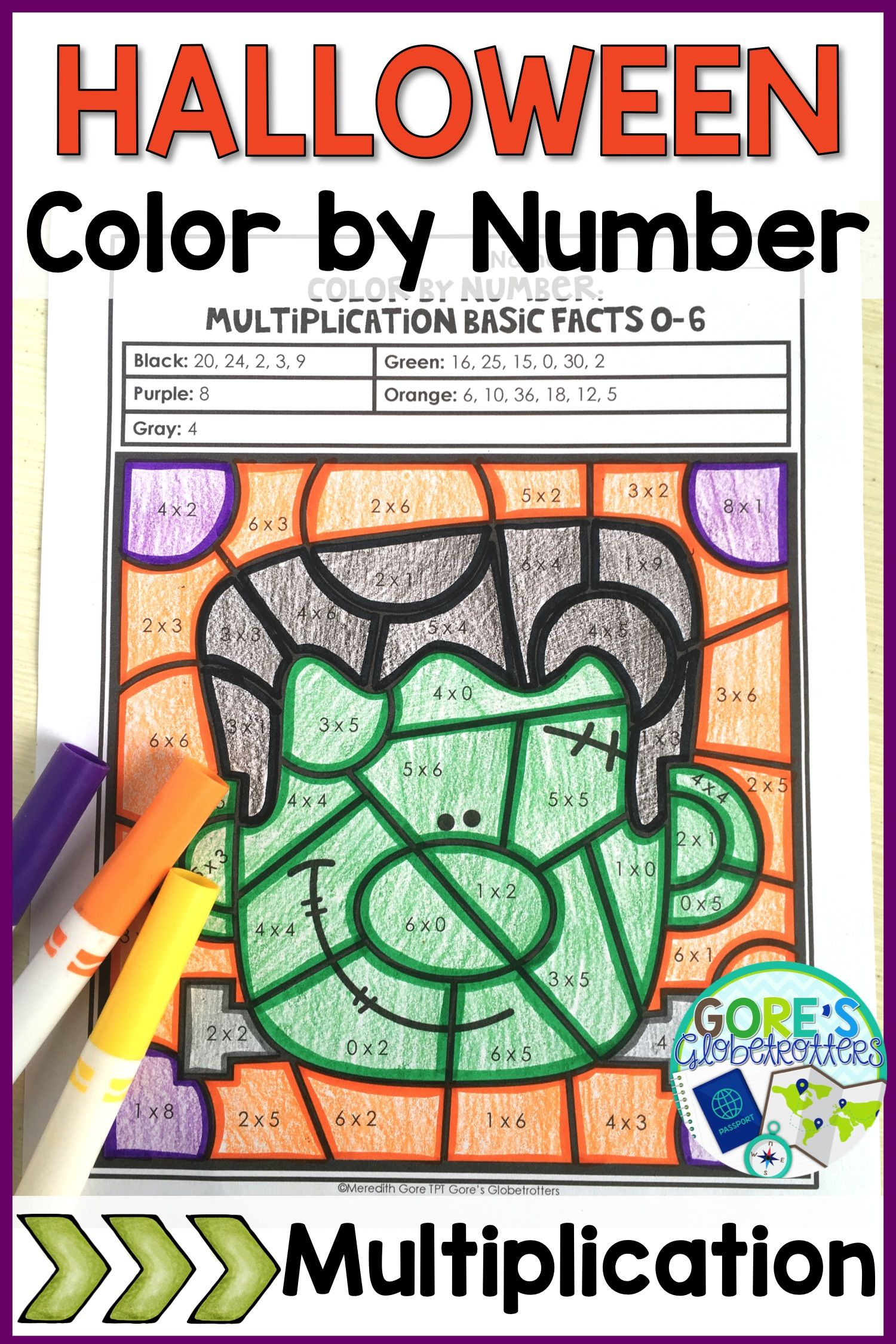 October And Halloween Math Worksheets Differentiated Mult