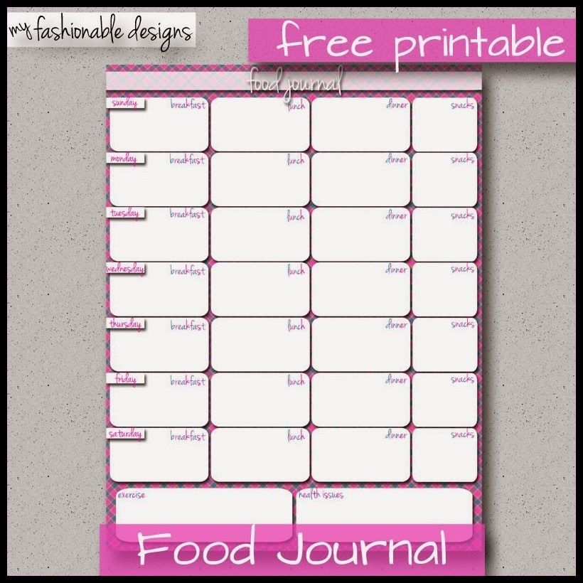 Weight Loss Journal - Printable Weight Loss Journal -- For more