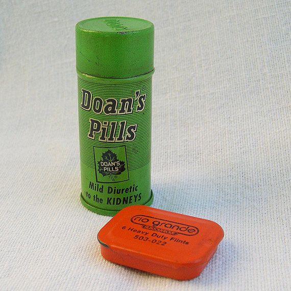 Metal Tins  Doan's Pills and Riogrande by LousMercantile on Etsy