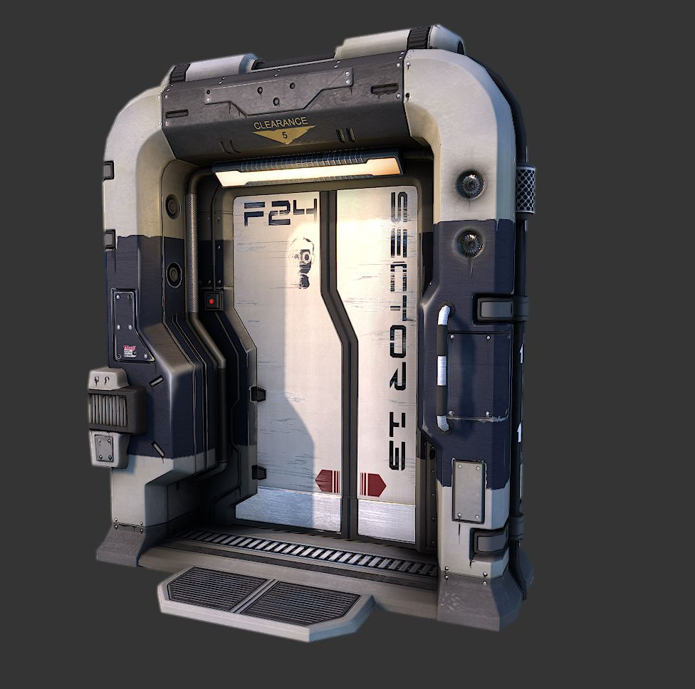 Sci Fi Door Based On Q4 Concept Page 2 Polycount Forum Sci Fi Environment Sci Fi Props Sci Fi Concept Art