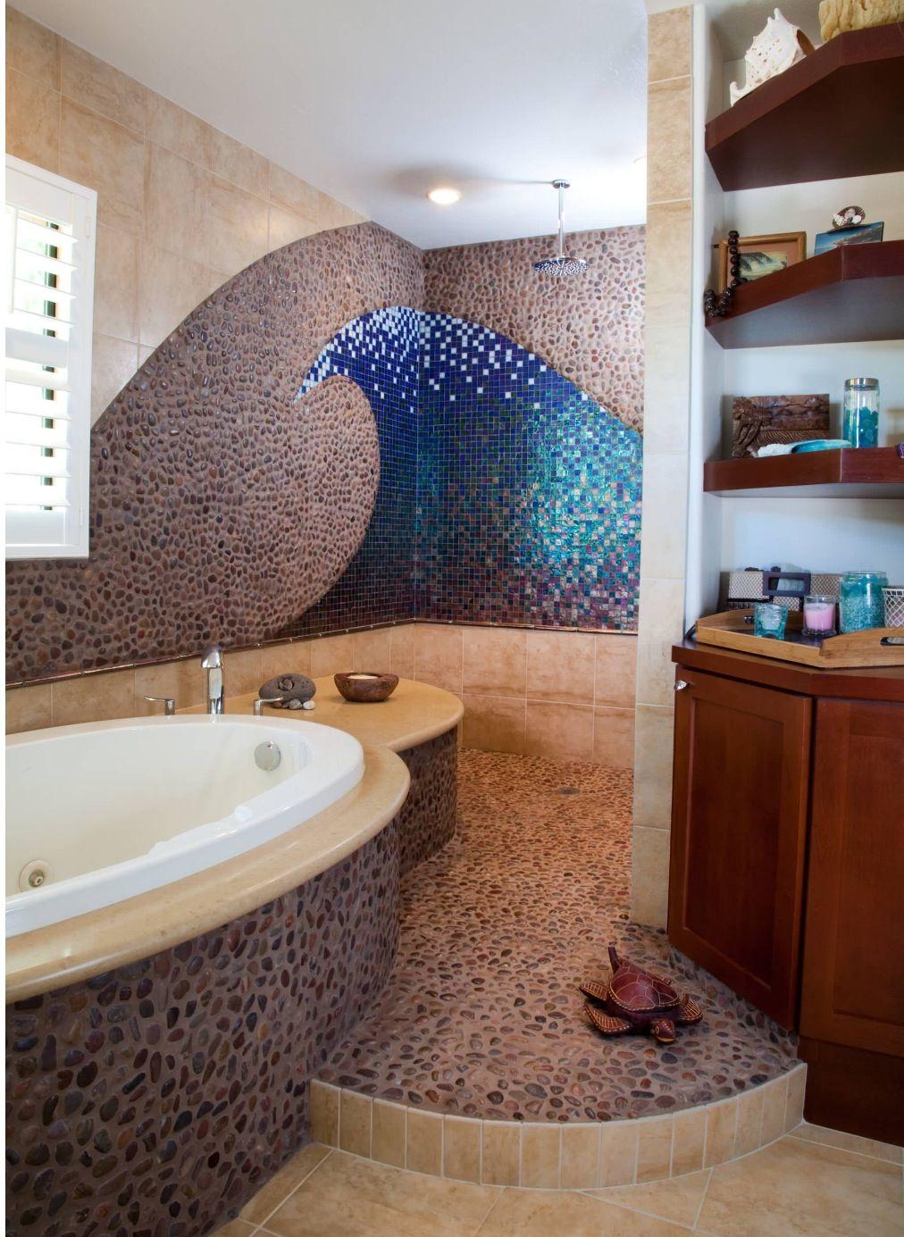 21 Unique Bathroom Designs Eclectic Bathroom Beach Theme