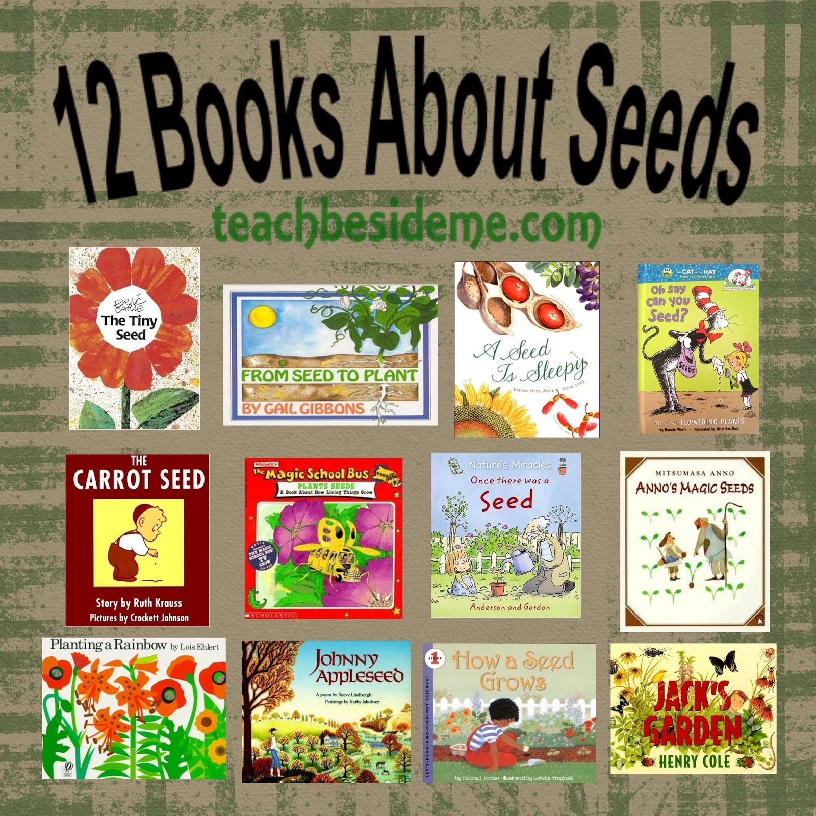 12 Books To Teach Kids All About Seeds Miss Rumphius Peter Rabbit Books For Children
