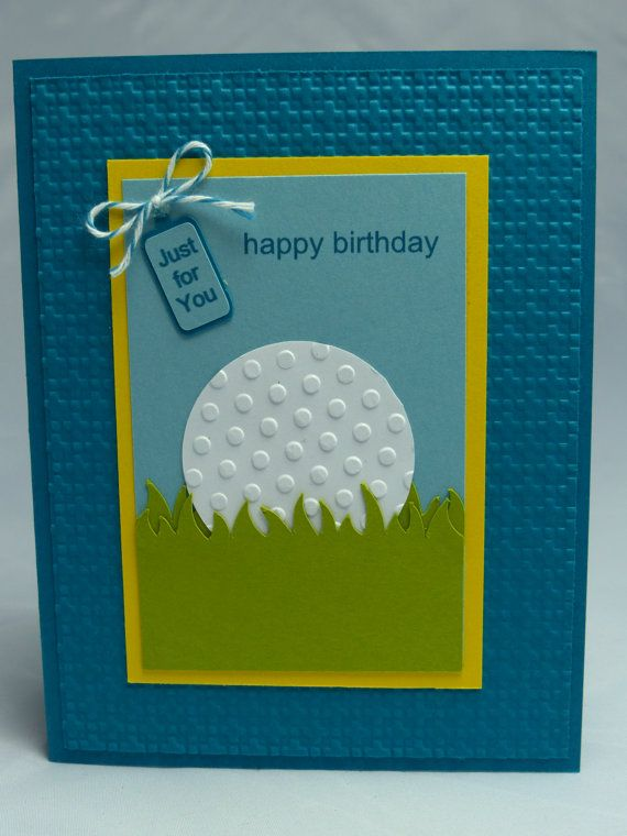 Stampin Up Handmade Greeting Card Happy Birthday Card Golf Golfing Golfer Golf Club Doctor Man Men S Women S Ball Just For You Gift Happy Birthday Cards Birthday Cards For Men Greeting Cards