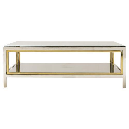 Boyd Windmill Regency Glass Silver Gold Coffee Table Coffee Table Gold Coffee Table Silver Coffee Table
