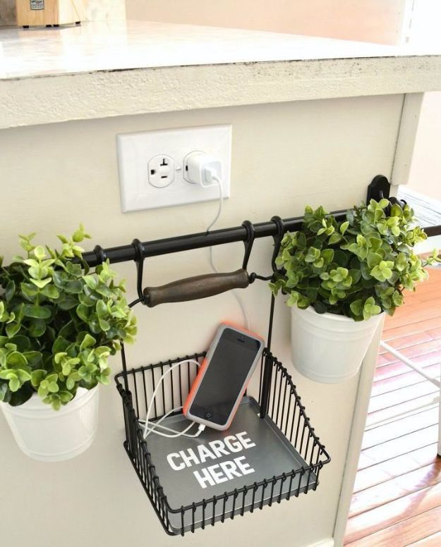 Best DIY Room Decor Ideas For Teens And Teenagers   Charging Station   Best  Cool Crafts