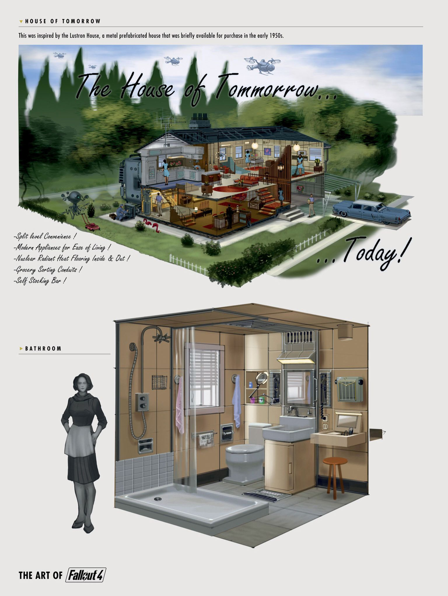 Fallout 4 Concept Houses Of Tomorrow