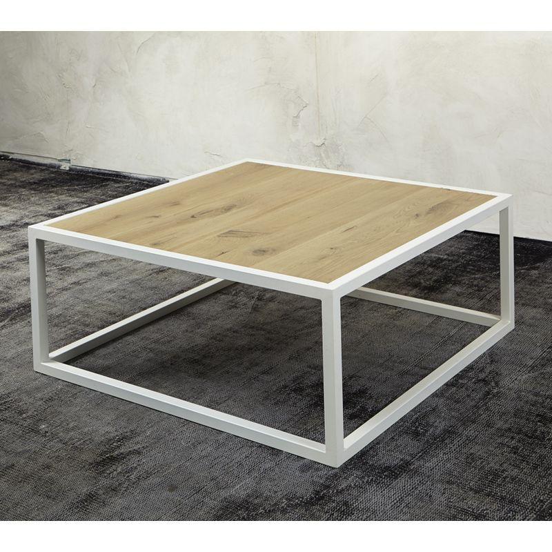 Spinder Design DIVA Couchtisch weiß struktur mit Ablage in Eiche - wohnzimmer tische günstig
