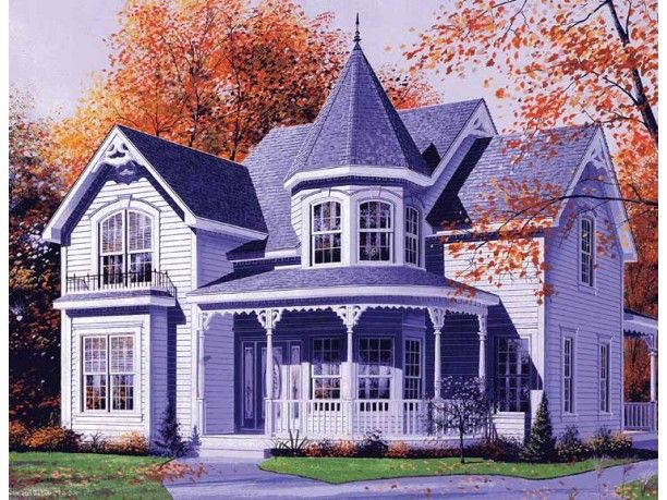 European Style House Plan 3 Beds 1 5 Baths 2160 Sq Ft Plan 23 447 Victorian House Plans Victorian Homes Queen Anne House