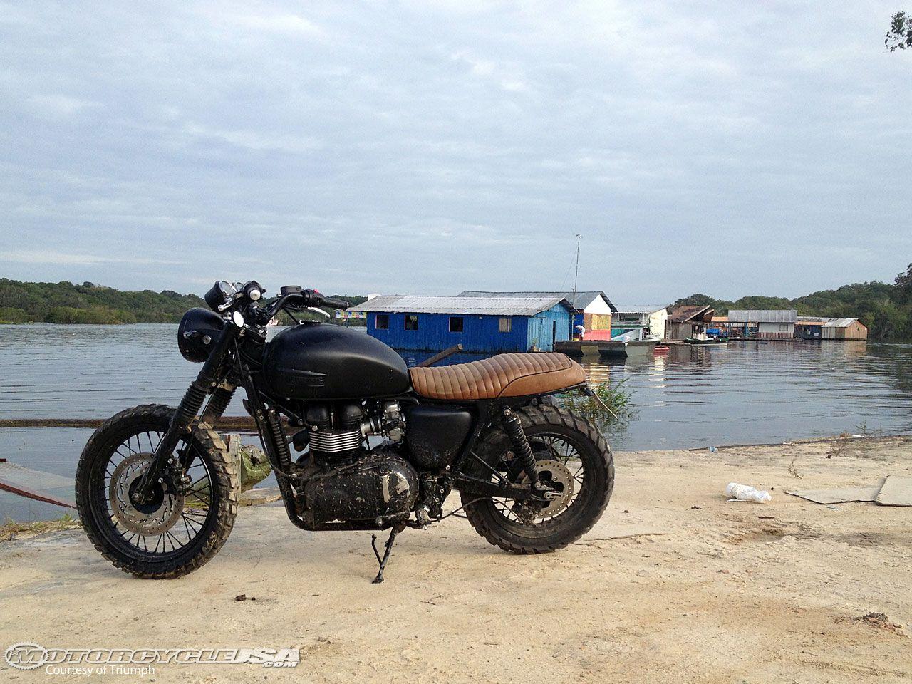 David Beckham Explores Amazon On Bonneville Motorcycle Usa Des
