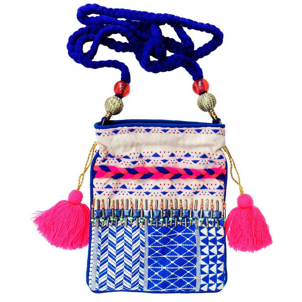 5a1e28fb99c4 Lovestitch Smart Phone Handbag with Braided Strap Beaded