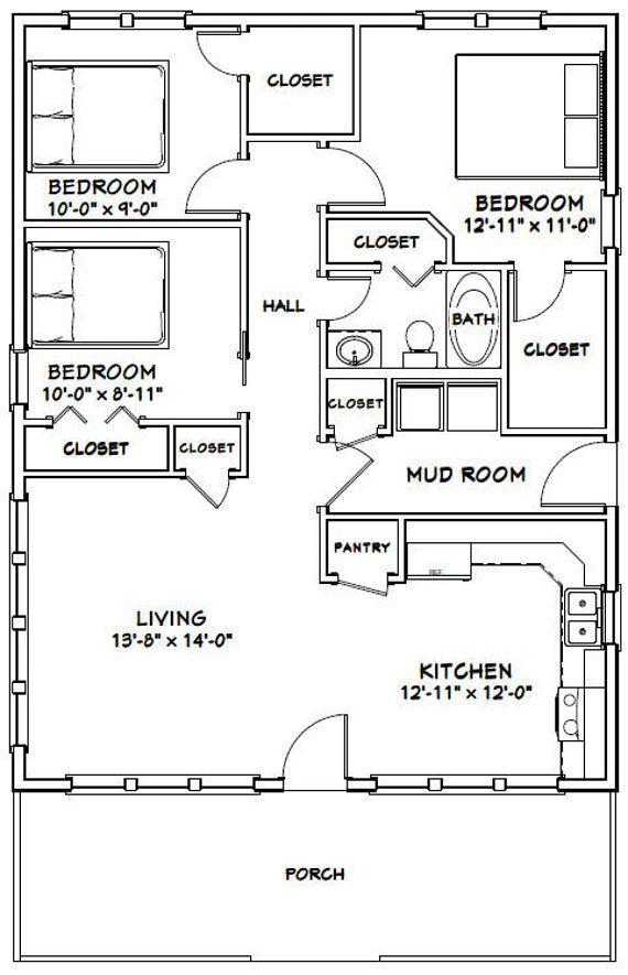 29+ 3 bedroom floor plan with dimensions info