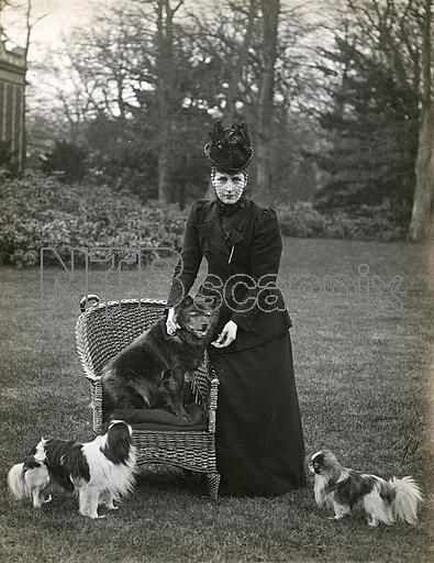 H M Queen Alexandra At Sandringham With Her Chow Chow Plumpy On