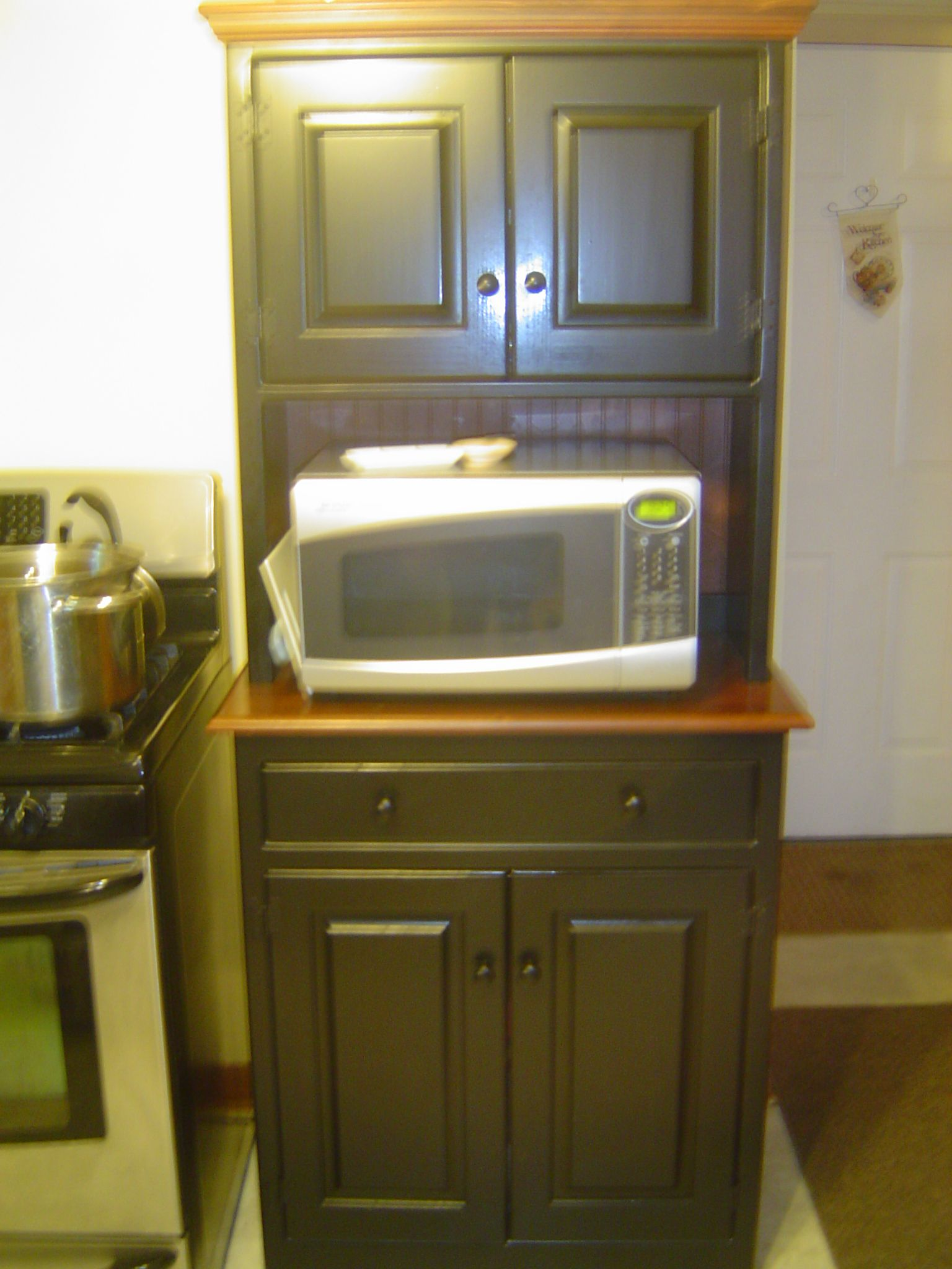 Microwave Hutch By Milleru0027s Quality Crafts, Sugarcreek, Oh