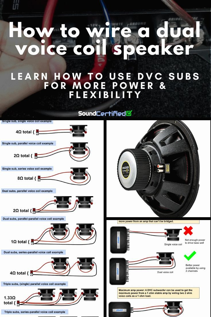 Voice wiring subwoofer dual coil Single Voice