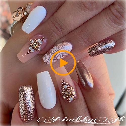 Ongles de mariage incroyables pour la mariée – Nail Art Connect