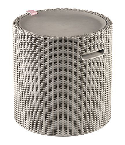 Keter Knit Cool Stool Outdoor 39l Cool Bar Ice Cooler