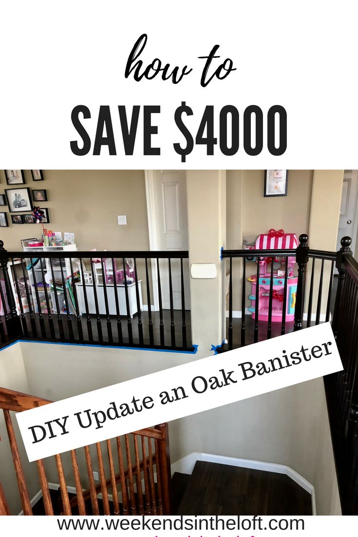 How to Save $4000.00 by Refinishing Oak Banister with Gel ...