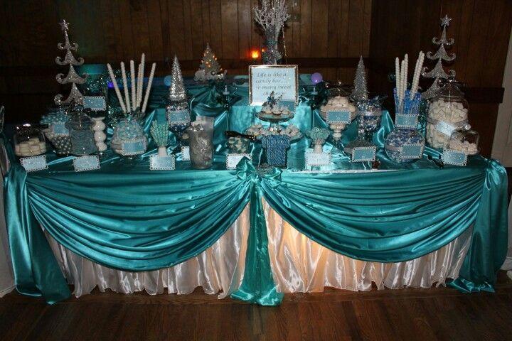 Candy Buffet Blue Candy Buffet Quinceanera Themes Candy Buffet