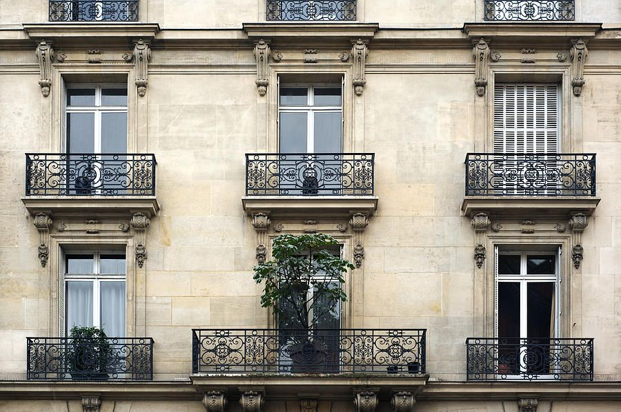 Paris Balconies Canvas Print / Canvas Art by P S | Paris ...