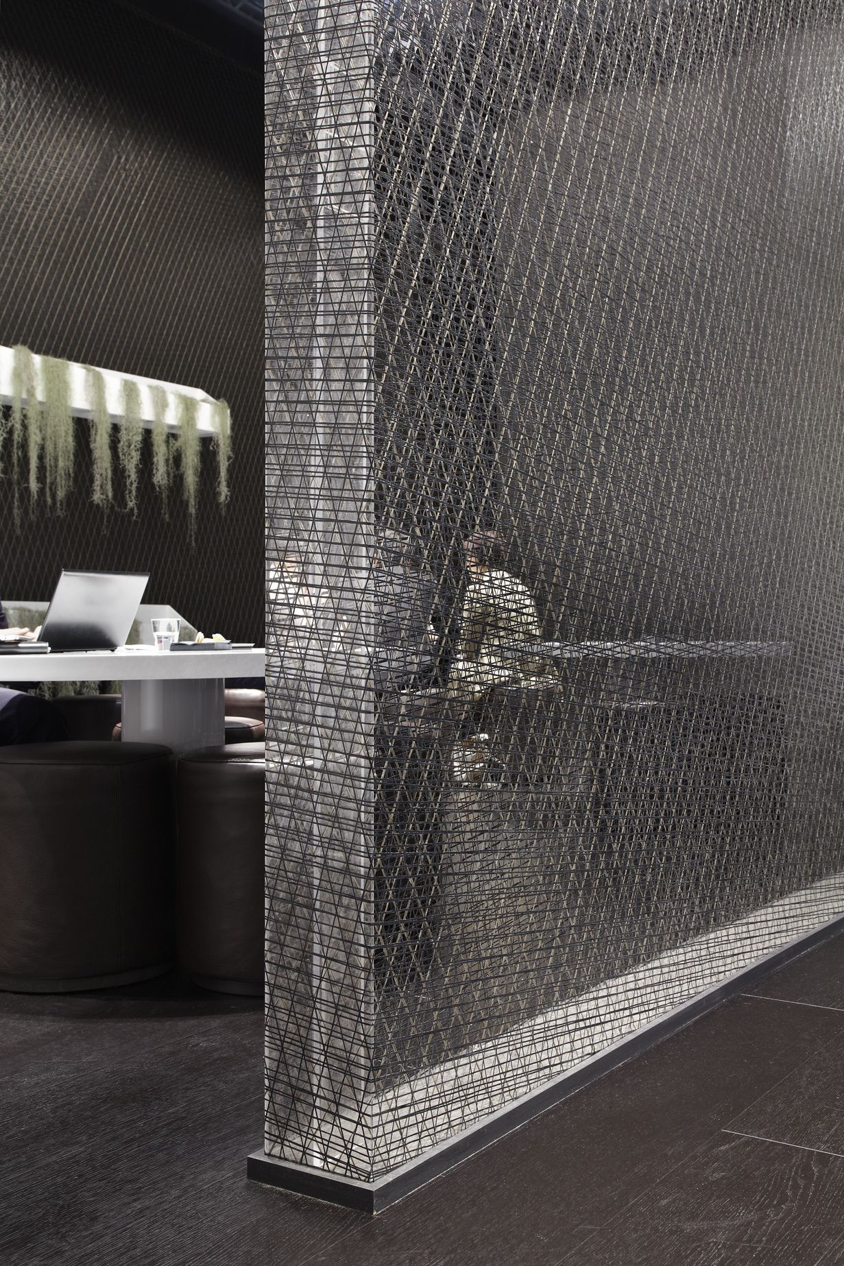 The Wall Of AIR With I MESH Lightness And Durability Work Perfectly  Together @Natuzzi Italian Furniture Company Italian Furniture Company Booth  During ...