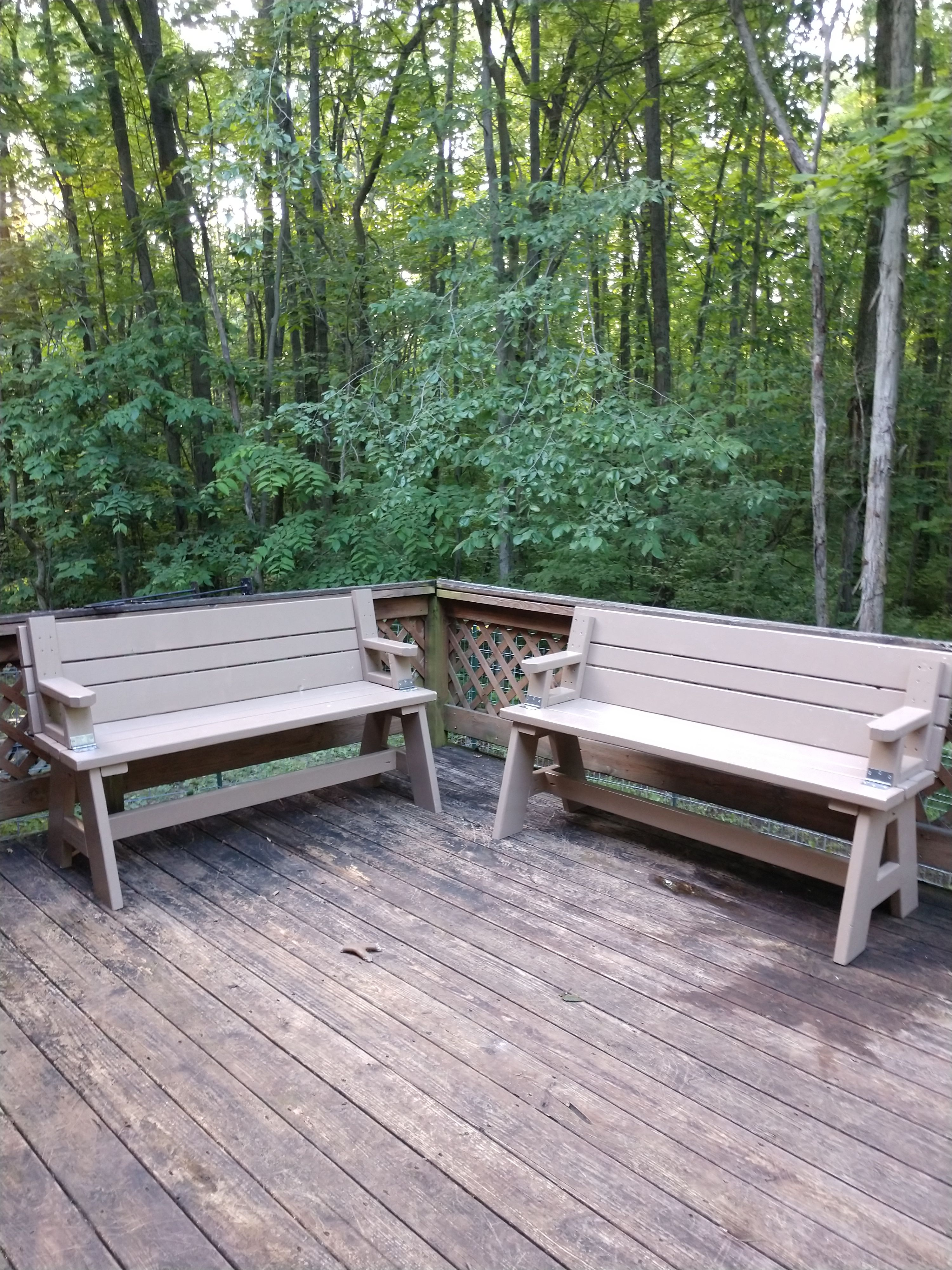 Groovy Built A Picnic Table That Converts Into Two Benches From Machost Co Dining Chair Design Ideas Machostcouk