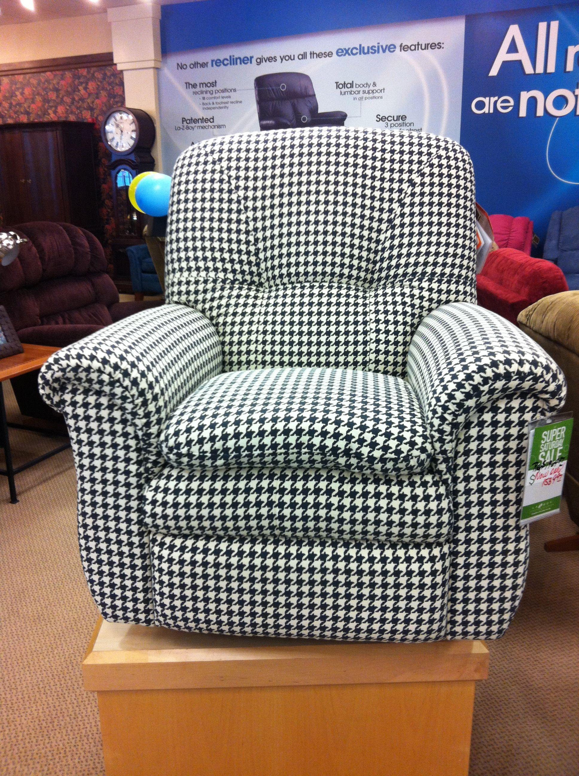 Houndstooth Recliner What Could Be Finer Crimson Tide