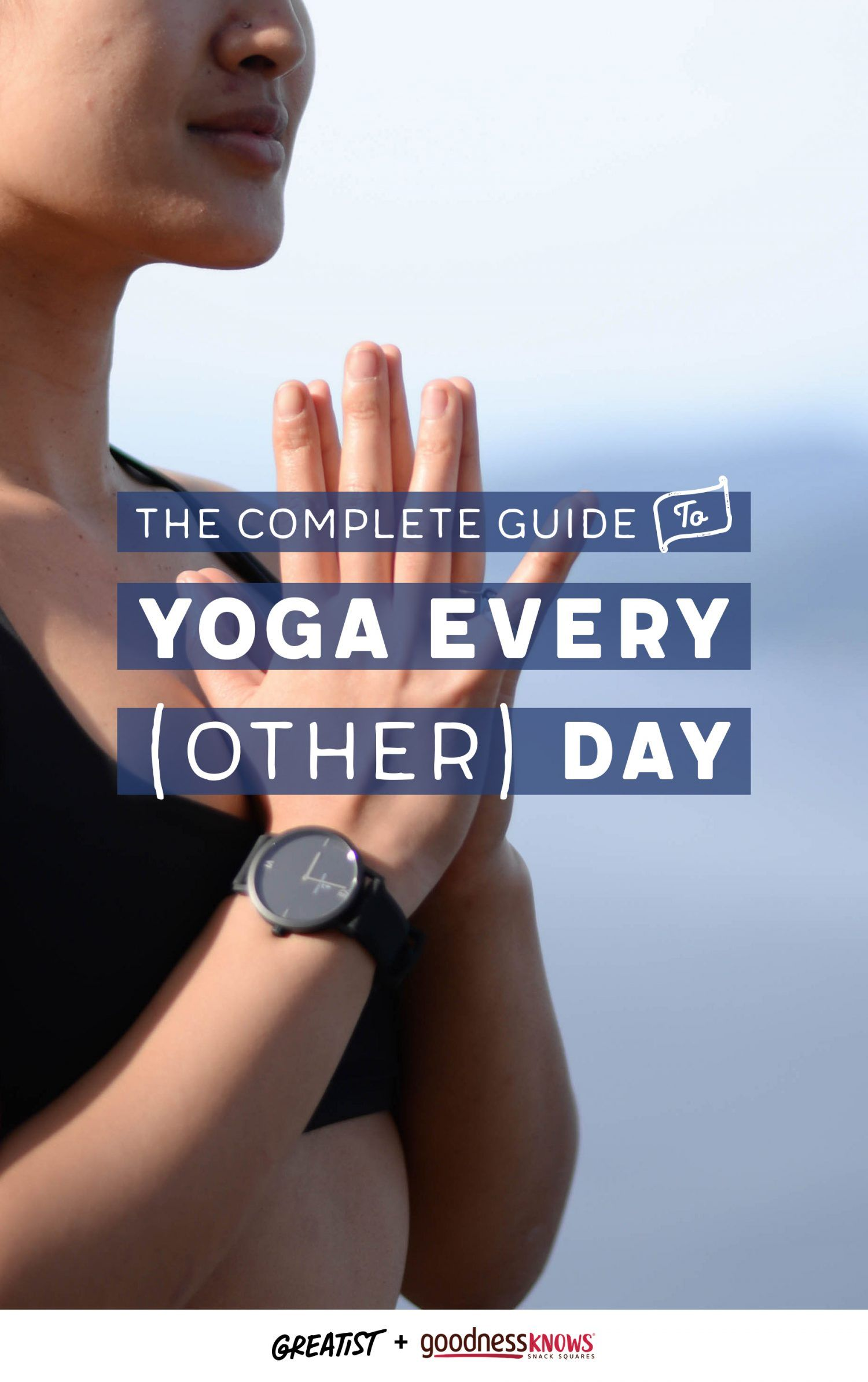 Let's be real: Yoga every other day is still a huge accomplishment.  #goodnessKNOWS #TryALittleGoodness #partner https://greatist.com/guide-to-yoga-every-other-day