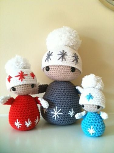 Winter Dolls Pattern By Annaboos House Gehaakte Winter Poppetjes