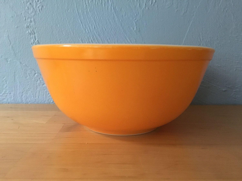 Pyrex Daisy 403 Nesting Mixing Bowl, Sunflower orange yellow by ...