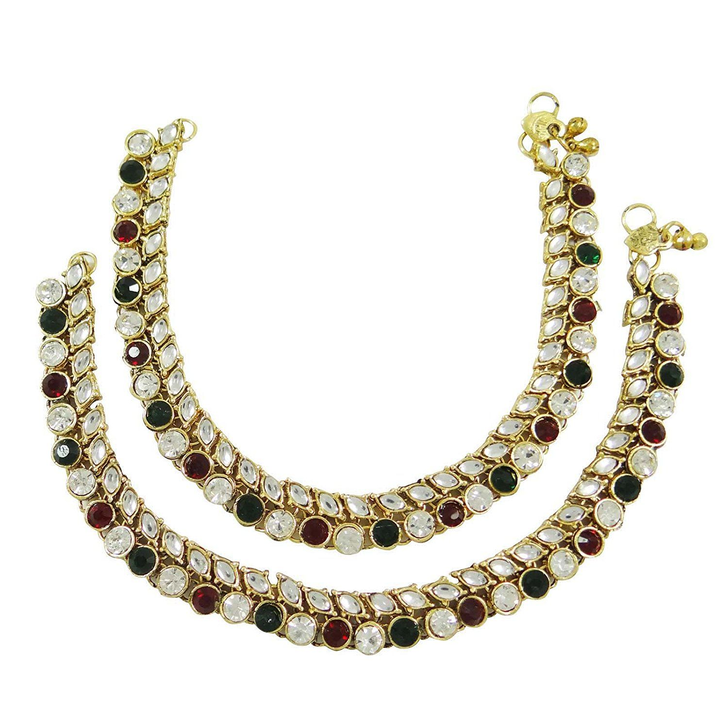 gold payal products of gram anklet ankletpayal griiham size plated guaranteed designer free one copy