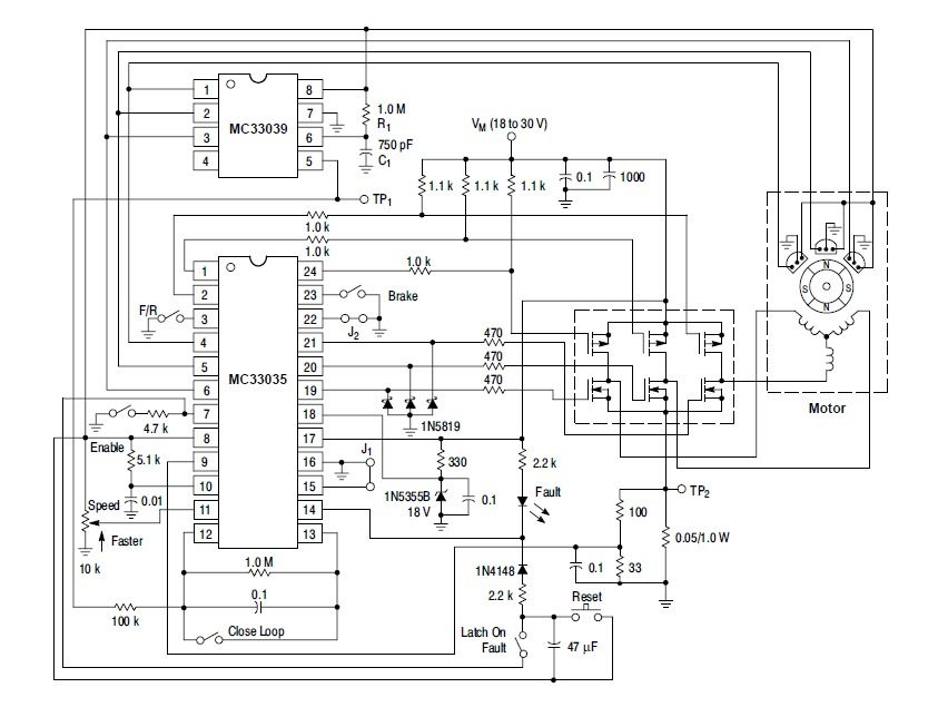 Mc33035 basic schematic motor brushless pinterest mc33035 basic schematic sciox Image collections