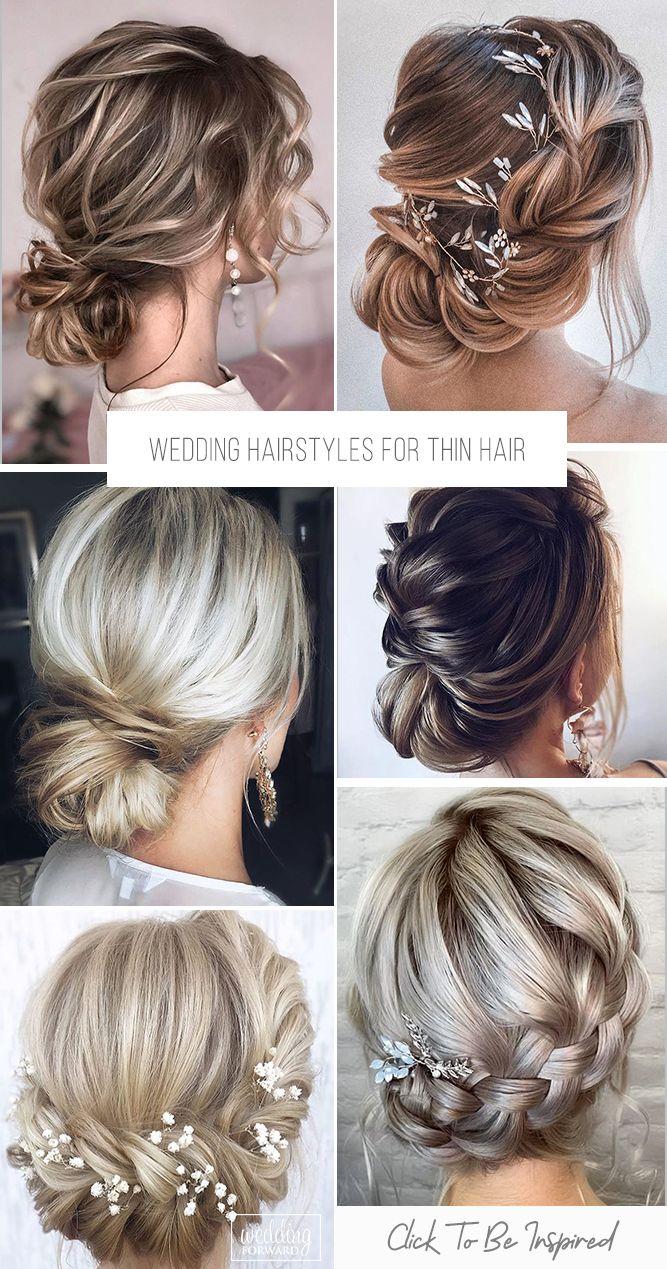 43++ Easy wedding hairstyles for thin hair ideas